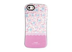 کاور طرح گل گلی صورتی مناسب برای گوشی موبایل اپل ایفون
